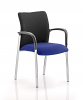 Academy Visitor Chair Black Fabric Back With Arms Stevia Blue