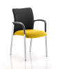 Academy Visitor Chair Black Fabric Back With Arms Senna Yellow