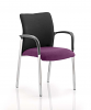 Academy Visitor Chair Black Fabric Back With Arms Tansy Purple