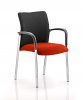 Academy Visitor Chair Black Fabric Back With Arms Tobasco Red