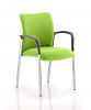Academy Bespoke Colour Fabric Back and Seat With Arms Myrrh Green