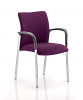 Academy Bespoke Colour Fabric Back and Seat With Arms Tansy Purple