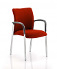 Academy Bespoke Colour Fabric Back and Seat With Arms Tobasco Red
