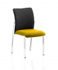 Academy Visitor Chair Fabric Back Without Arms Senna Yellow