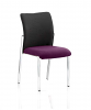 Academy Visitor Chair Fabric Back Without Arms Tansy Purple