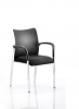 Academy Visitor Chair With Arms Bespoke Seat Black