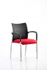 Academy Visitor Chair With Arms Bespoke Seat Bergamot Cherry