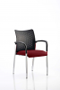 Academy Visitor Chair With Arms Bespoke Seat Ginseng Chilli
