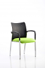Academy Visitor Chair With Arms Bespoke Seat Myrrh Green