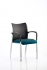 Academy Visitor Chair With Arms Bespoke Seat Maringa Teal