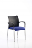 Academy Visitor Chair With Arms Bespoke Seat Stevia Blue