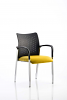 Academy Visitor Chair With Arms Bespoke Seat Senna Yellow