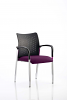 Academy Visitor Chair With Arms Bespoke Seat Tansy Purple
