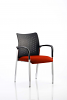 Academy Visitor Chair With Arms Bespoke Seat Tobasco Red