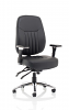 Barcelona Deluxe Office Chair Charcoal