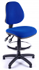 Juno Medium Back Draughtsman Chair - Blue