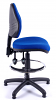 Juno Medium Back Draughtsman Chair - Blue - Side