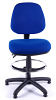 Juno Medium Back Draughtsman Chair - Blue - Front