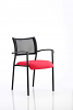Brunswick Visitor Chair With Arms Black Frame Bergamot Cherry