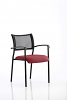 Brunswick Visitor Chair With Arms Black Frame Ginseng Chilli
