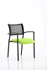 Brunswick Visitor Chair With Arms Black Frame Myrrh Green