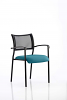 Brunswick Visitor Chair With Arms Black Frame Maringa Teal
