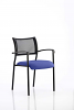 Brunswick Visitor Chair With Arms Black Frame Stevia Blue