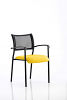 Brunswick Visitor Chair With Arms Black Frame Senna Yellow