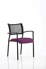 Brunswick Visitor Chair With Arms Black Frame Tansy Purple
