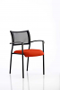 Brunswick Visitor Chair With Arms Black Frame Tobasco Red