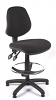 Juno Medium Back Draughtsman Chair - Charcoal