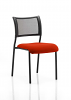 Brunswick No Arm Bespoke Colour Seat Black Frame Tobasco Red