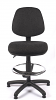 Juno Medium Back Draughtsman Chair - Charcoal - Front