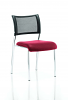 Brunswick No Arm Bespoke Colour Seat Chrome Frame Bergamot Cherry