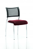 Brunswick No Arm Bespoke Colour Seat Chrome Frame Ginseng Chilli