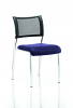 Brunswick No Arm Bespoke Colour Seat Chrome Frame Stevia Blue