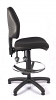 Juno Medium Back Draughtsman Chair - Black - Side