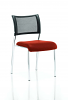 Brunswick No Arm Bespoke Colour Seat Chrome Frame Tobasco Red