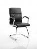 Classic Visitor Cantilever Chair With Arms Black