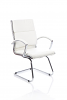 Classic Visitor Cantilever Chair With Arms White