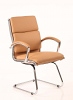Classic Visitor Cantilever Chair With Arms Tan