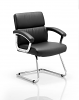 Desire Visitor Cantilever Chair With Arms Black