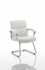 Desire Visitor Cantilever Chair With Arms White