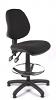 Juno Medium Back Draughtsman Chair - Black