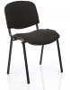ISO Stacking Chair Black Frame Without Arms Black Poly