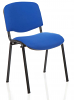 ISO Stacking Chair Black Frame Without Arms Stevia Blue