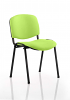ISO Stacking Chair Black Frame Without Arms Myrrh Green