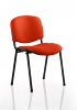 ISO Stacking Chair Black Frame Without Arms Orange