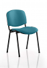ISO Stacking Chair Black Frame Without Arms Maringa Teal
