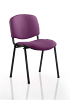 ISO Stacking Chair Black Frame Without Arms Tansy Purple